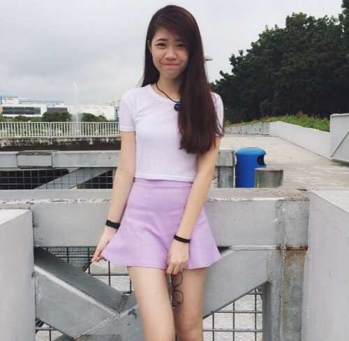 Breasted cutie Sexy upskirt singapore cock-pussy